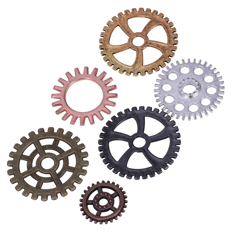 100g-Stueck-Uhrenteile-Steampunk-Zahnraeder-Gang-Sortierte-Uhr-Vintage-Schmu-M2O9 Indexbild 5
