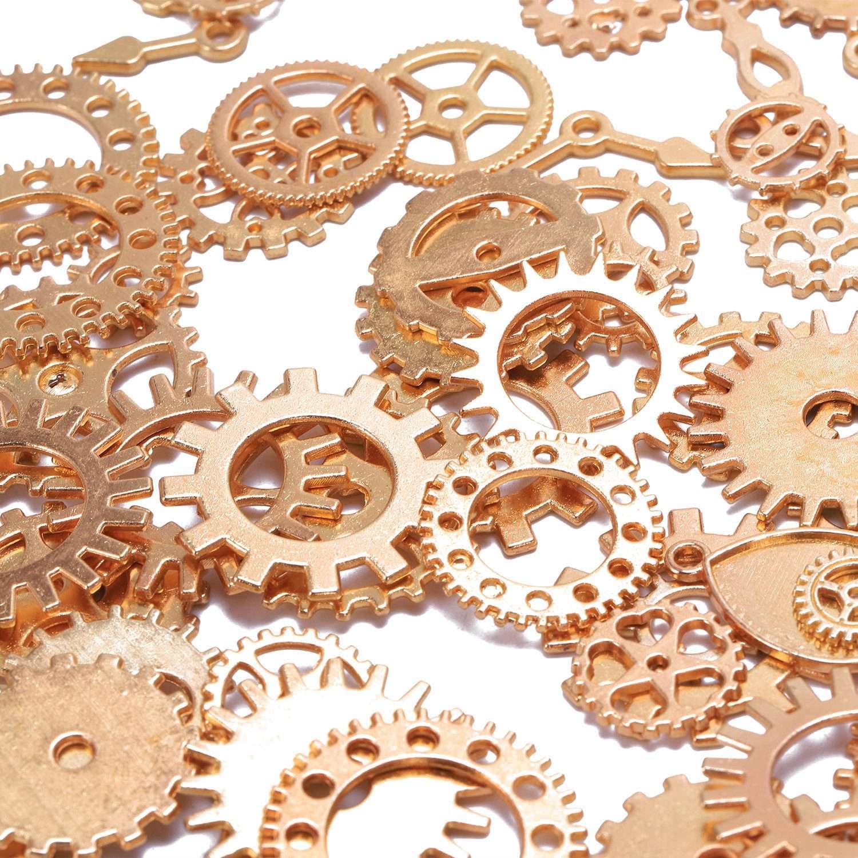 100g-Stueck-Uhrenteile-Steampunk-Zahnraeder-Gang-Sortierte-Uhr-Vintage-Schmu-M2O9 Indexbild 12