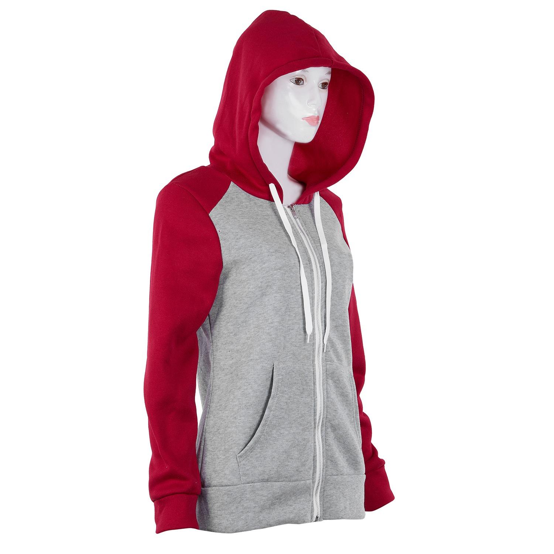 2X-Sweat-Shirt-Veste-Manteau-a-Capuche-Patchwork-a-Zip-D-039-Automne-Pour-Femme-U8Z3 miniature 7