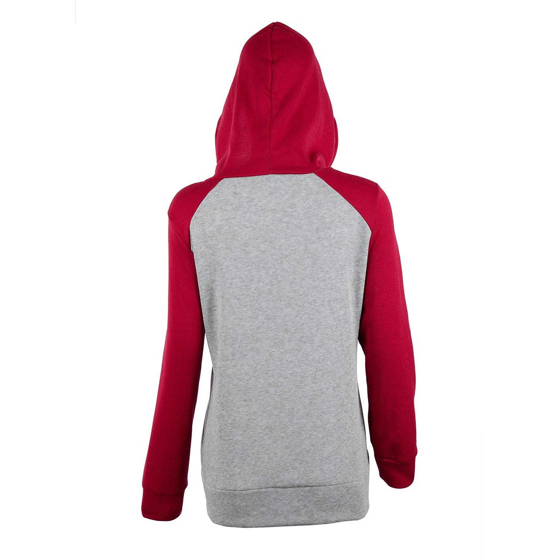 2X-Sweat-Shirt-Veste-Manteau-a-Capuche-Patchwork-a-Zip-D-039-Automne-Pour-Femme-U8Z3 miniature 8