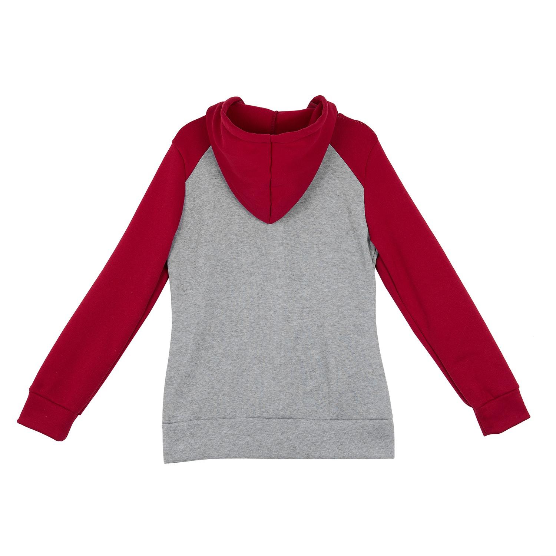 2X-Sweat-Shirt-Veste-Manteau-a-Capuche-Patchwork-a-Zip-D-039-Automne-Pour-Femme-U8Z3 miniature 10