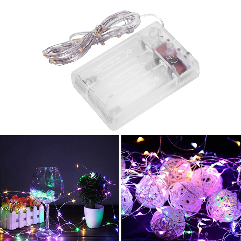 Fairy-Lights-AA-Battery-Powered-5M-50-Leds-Silver-Led-Copper-Wire-String-Li-Z7U7 thumbnail 13