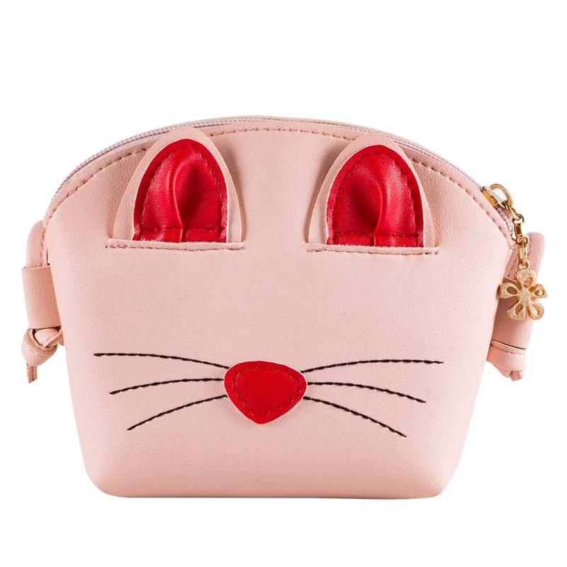 be6d3add953e Pink Little Girls Crossbody Purse Cute Cat Shoulder Bag for Girls ...