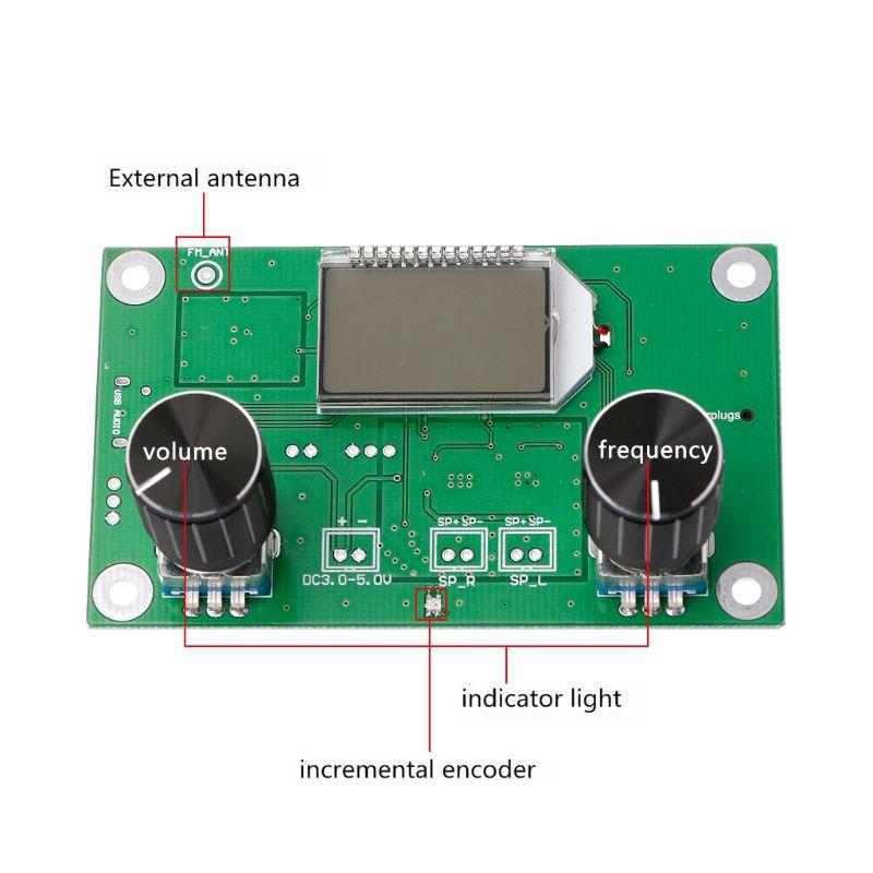 Digital-FM-87-108MHz-DSP-amp-PLL-LCD-Stereo-Radio-Receiver-Module-Serial-Cont-U2J4 thumbnail 3