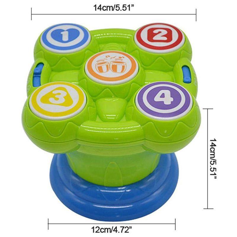 jouet de tambour de secousses Rattle Vieux bois chinois pour les enfants I4J4