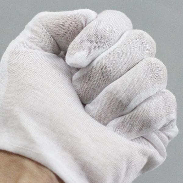 12 Paar Handschuhe Aus 100/% Baumwolle Weiß Mit Feuchtigkeitscreme Futter Ha E3J4