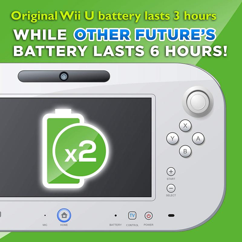 1X-For-Wii-U-GamePad-3600-mAh-Replacement-Rechargeable-Battery-Pack-H2P2 thumbnail 4