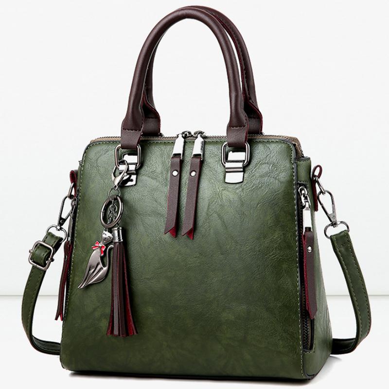 1X-Damen-Handtaschen-Hoch-Wertiger-Druck-Damen-Tasche-Damen-PU-Leder-Schult-R1A0 Indexbild 3