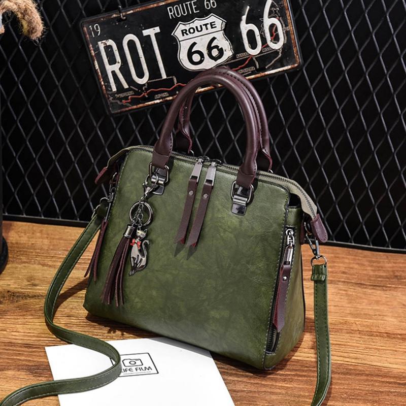 1X-Damen-Handtaschen-Hoch-Wertiger-Druck-Damen-Tasche-Damen-PU-Leder-Schult-R1A0 Indexbild 4