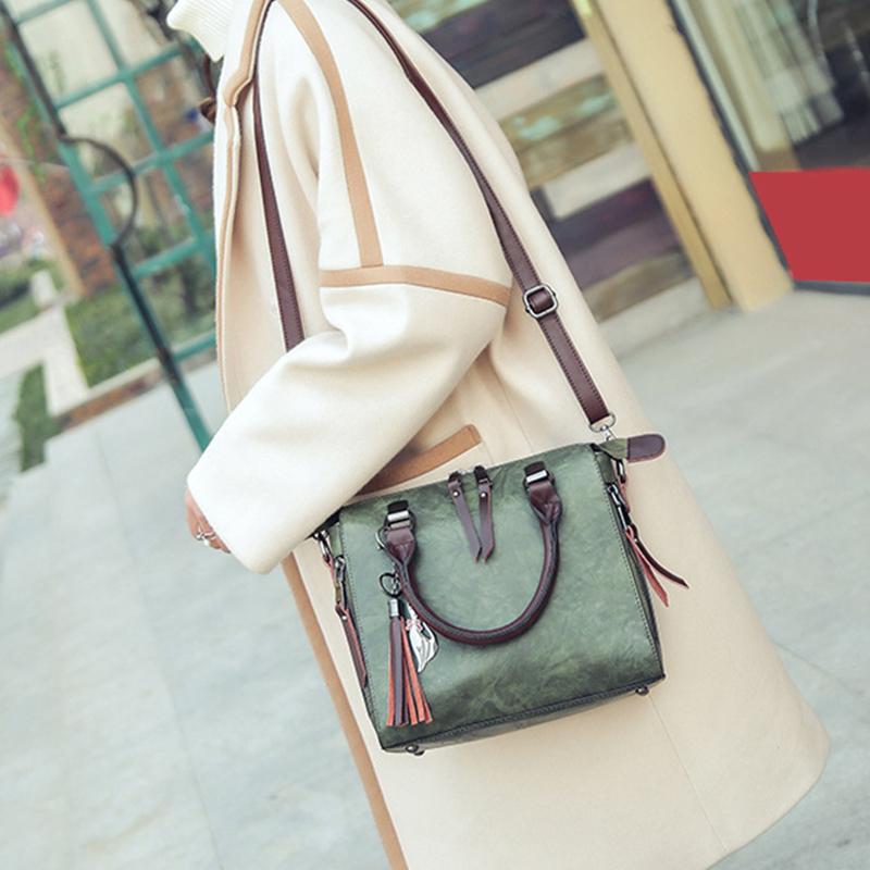 1X-Damen-Handtaschen-Hoch-Wertiger-Druck-Damen-Tasche-Damen-PU-Leder-Schult-R1A0 Indexbild 5