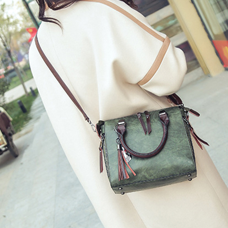 1X-Damen-Handtaschen-Hoch-Wertiger-Druck-Damen-Tasche-Damen-PU-Leder-Schult-R1A0 Indexbild 6