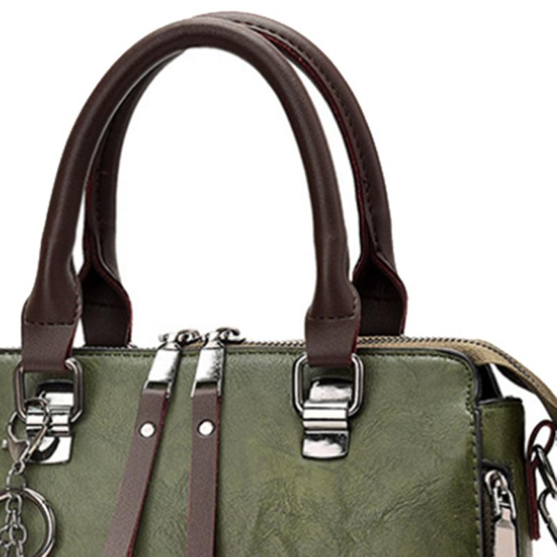 1X-Damen-Handtaschen-Hoch-Wertiger-Druck-Damen-Tasche-Damen-PU-Leder-Schult-R1A0 Indexbild 7