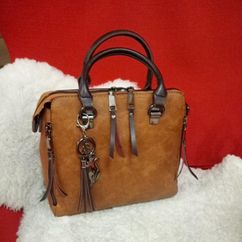 1X-Damen-Handtaschen-Hoch-Wertiger-Druck-Damen-Tasche-Damen-PU-Leder-Schult-R1A0 Indexbild 9