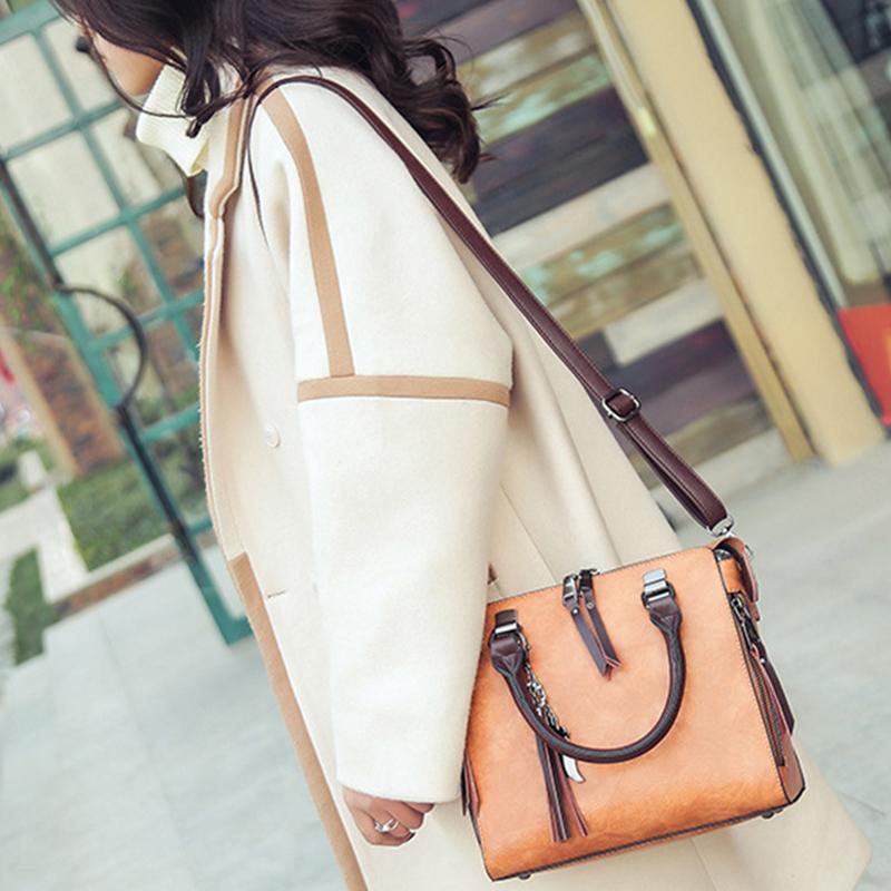 1X-Damen-Handtaschen-Hoch-Wertiger-Druck-Damen-Tasche-Damen-PU-Leder-Schult-R1A0 Indexbild 11