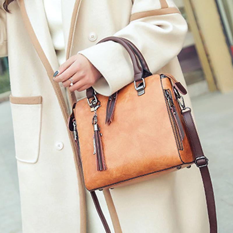 1X-Damen-Handtaschen-Hoch-Wertiger-Druck-Damen-Tasche-Damen-PU-Leder-Schult-R1A0 Indexbild 12