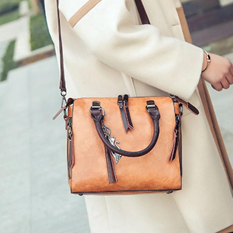 1X-Damen-Handtaschen-Hoch-Wertiger-Druck-Damen-Tasche-Damen-PU-Leder-Schult-R1A0 Indexbild 13