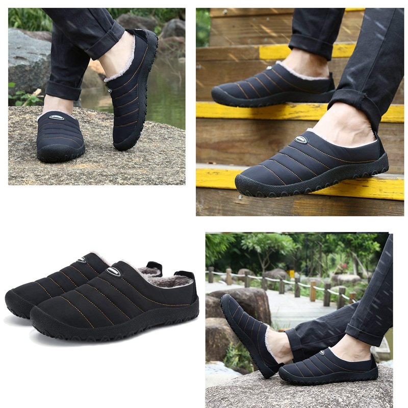 dcbc9398f Men's Women's Anti-Slip Moccasin Loafer Winter Warm Low Top Slippers ...