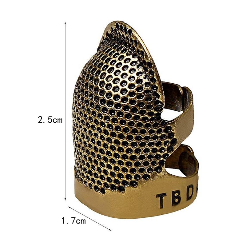 2X-Sewing-Thimbles-Retro-Sewing-Thimble-Finger-Protector-Shield-Protector-U6X4 thumbnail 3
