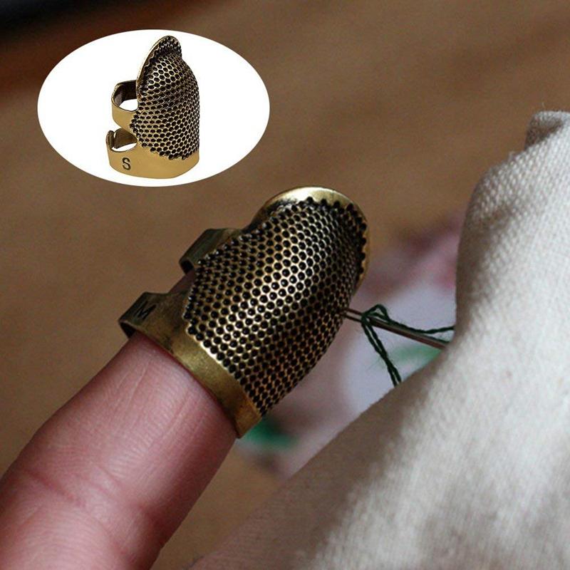 2X-Sewing-Thimbles-Retro-Sewing-Thimble-Finger-Protector-Shield-Protector-U6X4 thumbnail 7