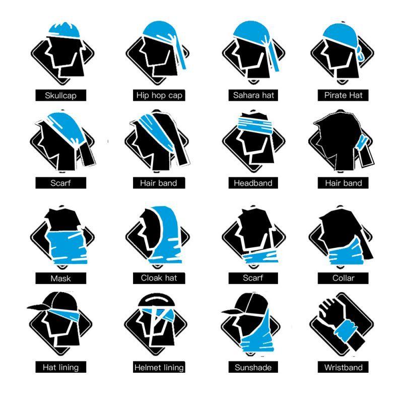 1X 3D Magisches Handtuch Digitaldruck Sonnencreme Reitkragen Magisches Kopft NE Bekleidung