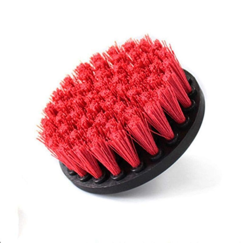 4X(4In 4 Piece Piece Piece Soft, Medium and Stiff Power Scrubbing Brush Drill Attachment Q4 3f3aeb