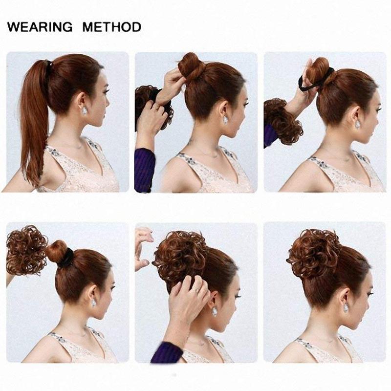 Postiches-De-Cheveux-Ruban-De-Cheveux-Extensions-De-Queue-De-Cheval-Extensi-U5K4 miniature 7