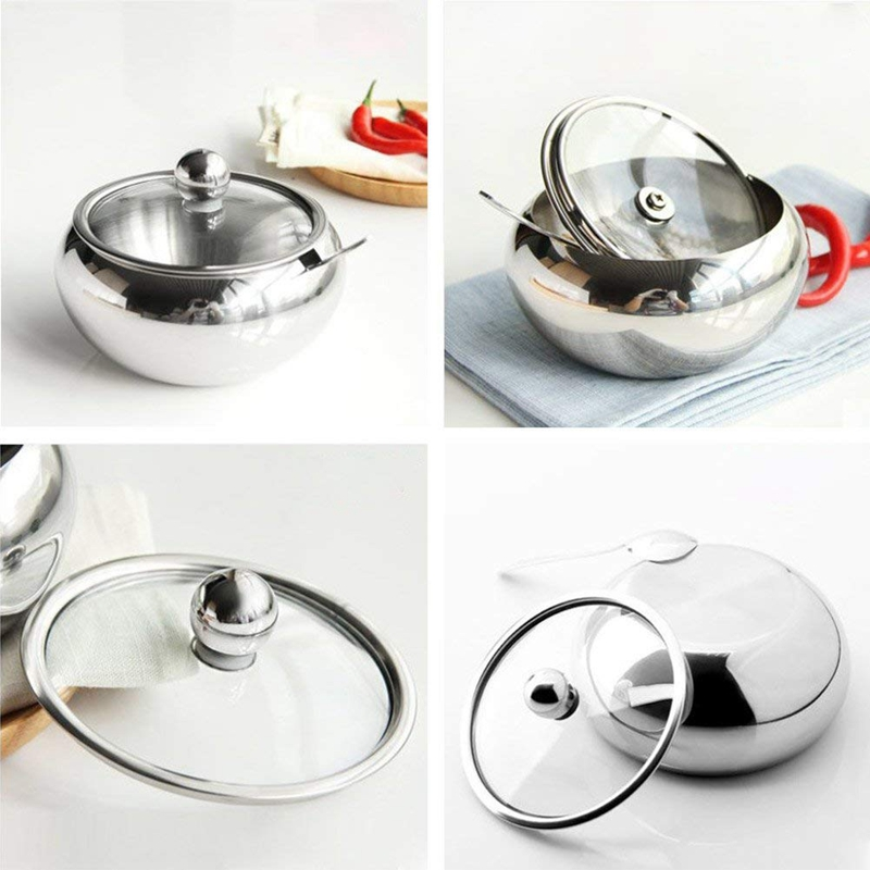 Stainless-Steel-Sugar-Bowl-with-Clear-Glass-Lid-for-better-recognition-a-H7A7 thumbnail 6