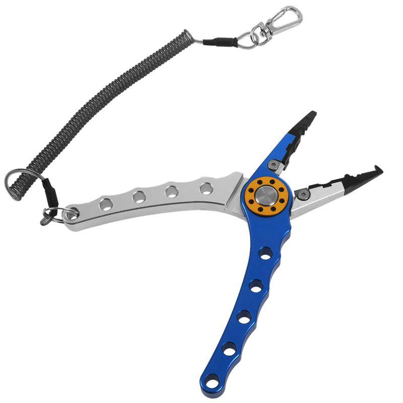 6X (7 pulgadas de de de aluminio doblada nariz alicates de pesca mandíbulas de acero inoxidable tijeras de línea T7 94559a