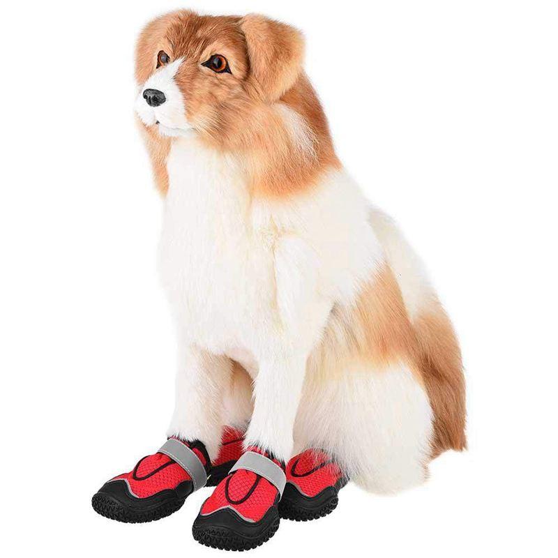 Indexbild 10 - Hund-Wanderschuhe-Pfoten-Schutz-Set-4-Hunde-Schuhe-Atmungsaktiv-Pfote-Hun-W5K8