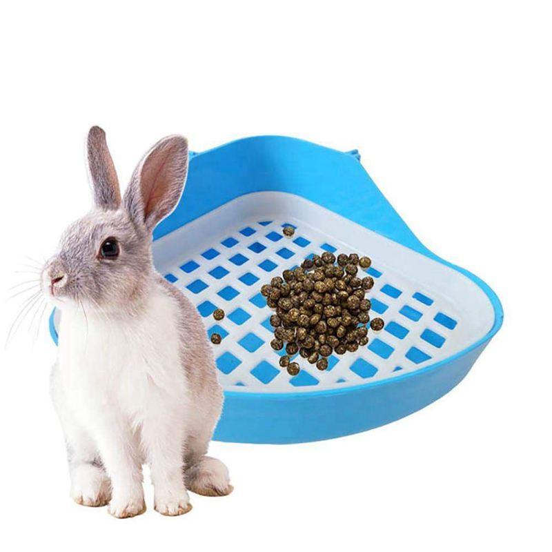 10X Coniglio Lettiera Igienica Vassoio, piccoli animali Angolo WC VASINO, PET Lettiera N7Y2
