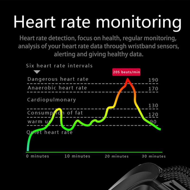 F4-Pulsera-De-Banda-Inteligente-Monitor-De-Ritmo-Cardiaco-De-Presion-I3E9 miniatura 17