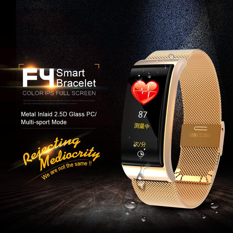 F4-Pulsera-De-Banda-Inteligente-Monitor-De-Ritmo-Cardiaco-De-Presion-I3E9 miniatura 30