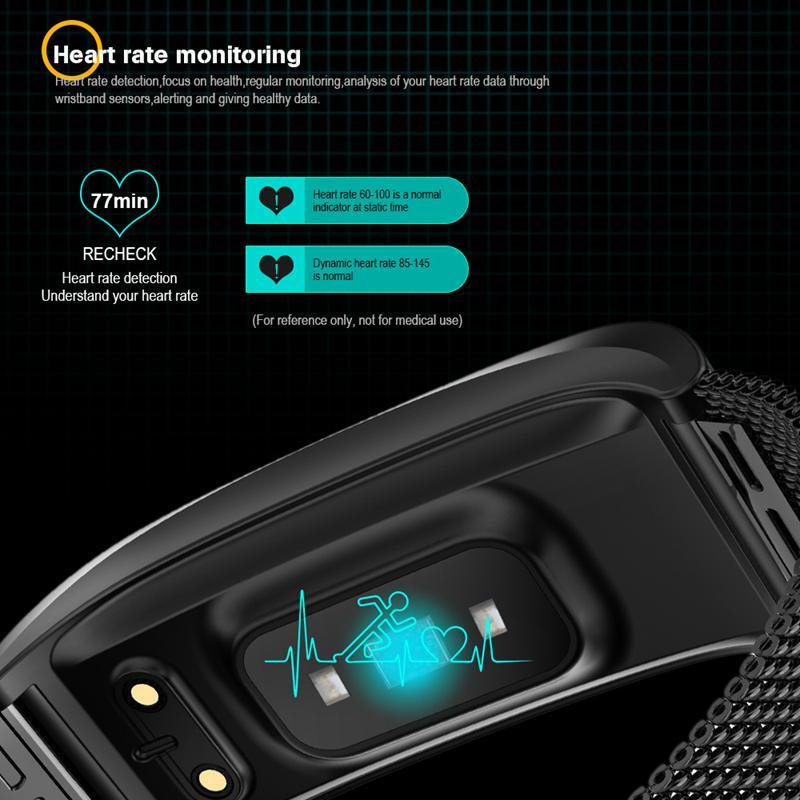 F4-Pulsera-De-Banda-Inteligente-Monitor-De-Ritmo-Cardiaco-De-Presion-I3E9 miniatura 6