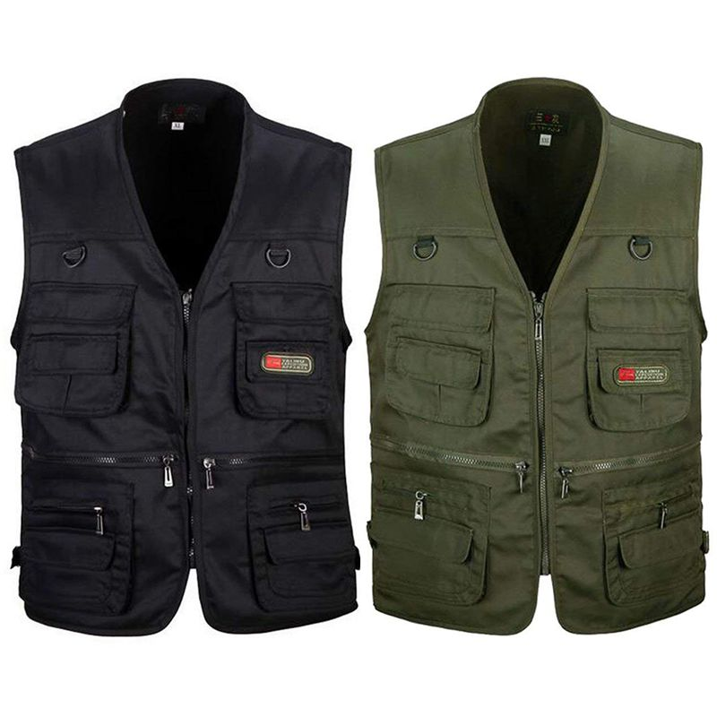 6f2582a28bc098 1X(Men s Fishing Vest with Multi-Pocket Zip for Photography ...