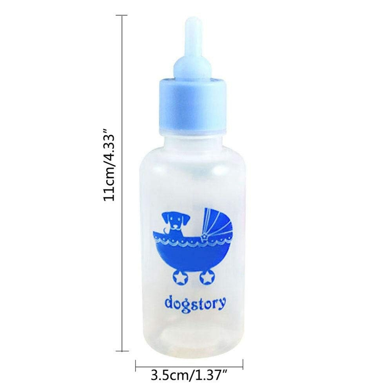 Pet-Nurser-Nursing-Feeding-Silicone-Bottle-Kits-with-Replacement-Nipples-Mi-R7N8 thumbnail 3