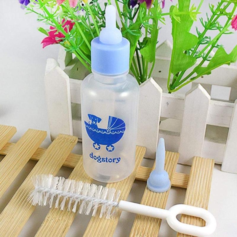 Pet-Nurser-Nursing-Feeding-Silicone-Bottle-Kits-with-Replacement-Nipples-Mi-R7N8 thumbnail 7