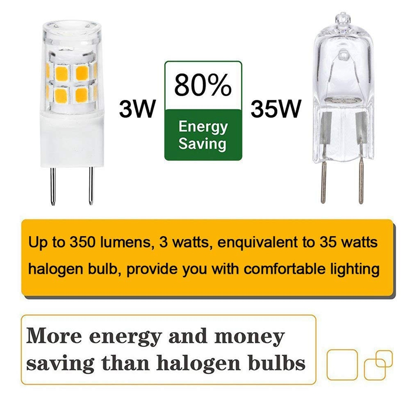 1X-Led-G8-Lumiere-Ampoule-G8-Gy8-6-Culot-A-Deux-Broches-Led-Non-Dimmable-L1A4 miniature 12