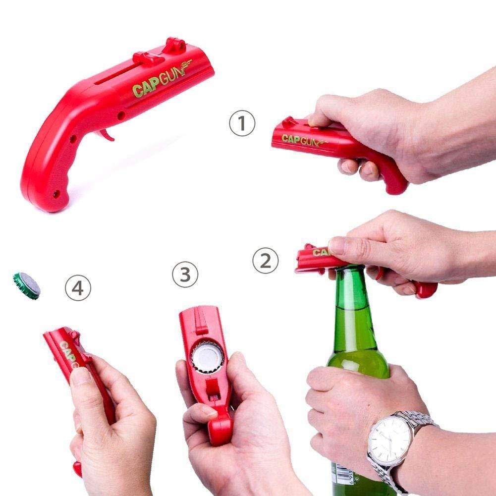 Bier-Flaschen-Offner-Bier-Getraenk-Flaschen-Offner-Deckel-Launcher-Cap-Gun-L6X8 Indexbild 5