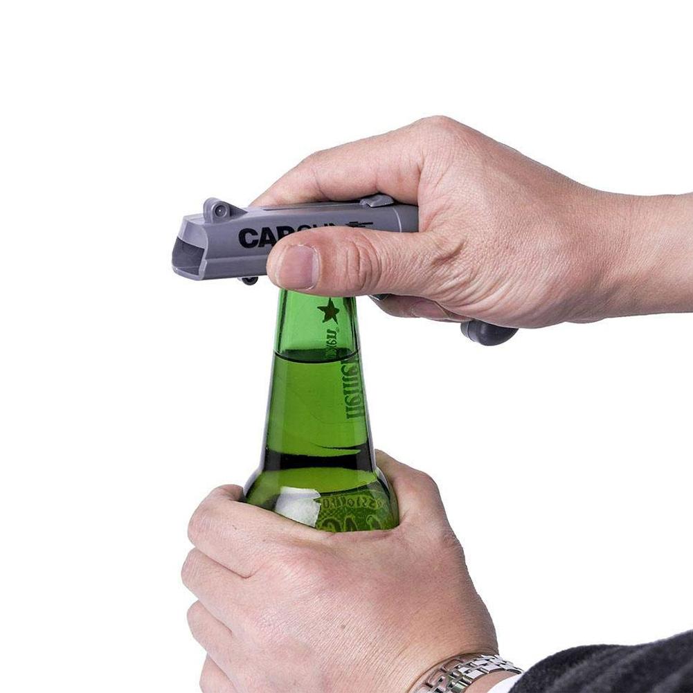 Bier-Flaschen-Offner-Bier-Getraenk-Flaschen-Offner-Deckel-Launcher-Cap-Gun-L6X8 Indexbild 15
