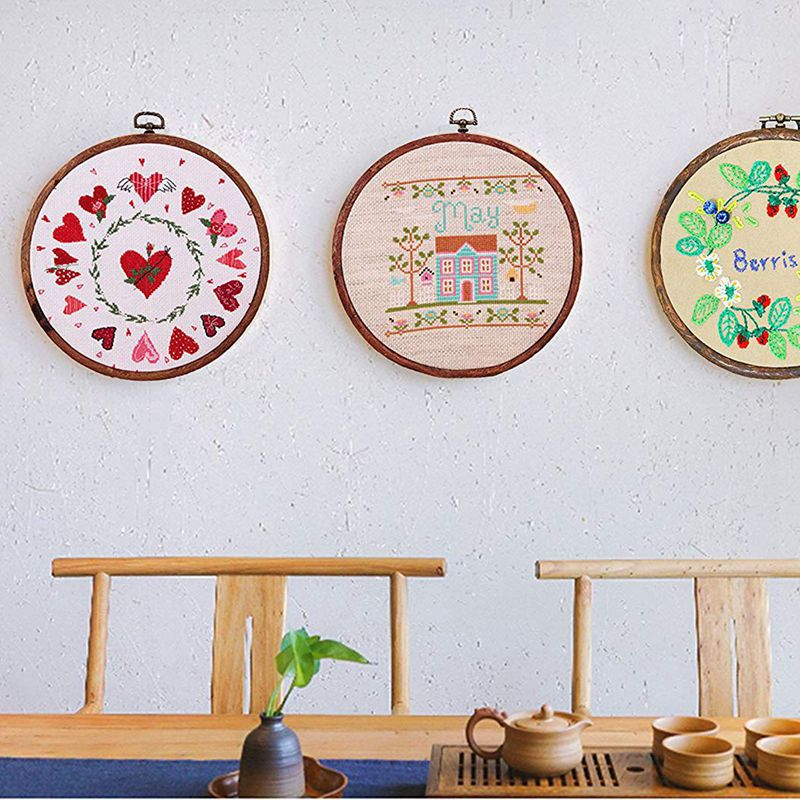 Embroidery Hoop,Cross Stitch Hoop Ring Embroidery Circle Sewing Kit ...