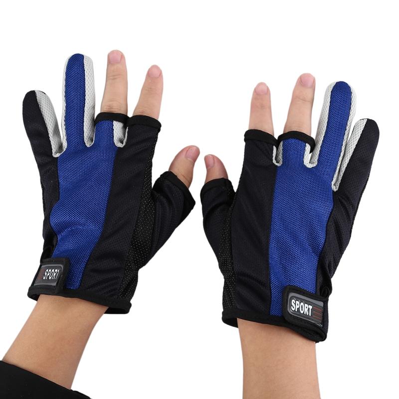 Handschuhe Anti-Rutsch Anglerhandschuhe Tief Geschnitten Finger 1 Paar E6N5