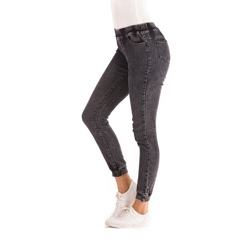 Women-Casual-Elastic-Waist-Stretch-Skinny-Jeans-Ladies-Pockets-Denim-Trousers-V6 thumbnail 6
