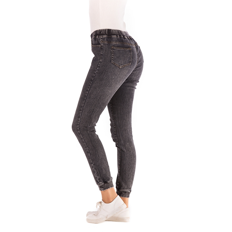 Women-Casual-Elastic-Waist-Stretch-Skinny-Jeans-Ladies-Pockets-Denim-Trousers-V6 thumbnail 7