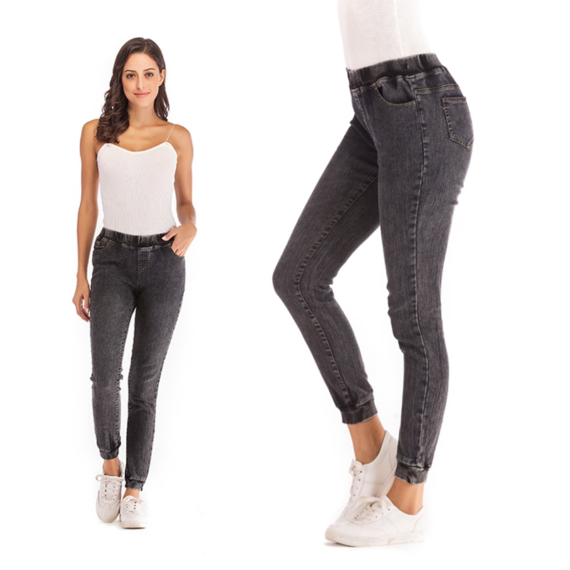 Women-Casual-Elastic-Waist-Stretch-Skinny-Jeans-Ladies-Pockets-Denim-Trousers-V6 thumbnail 8
