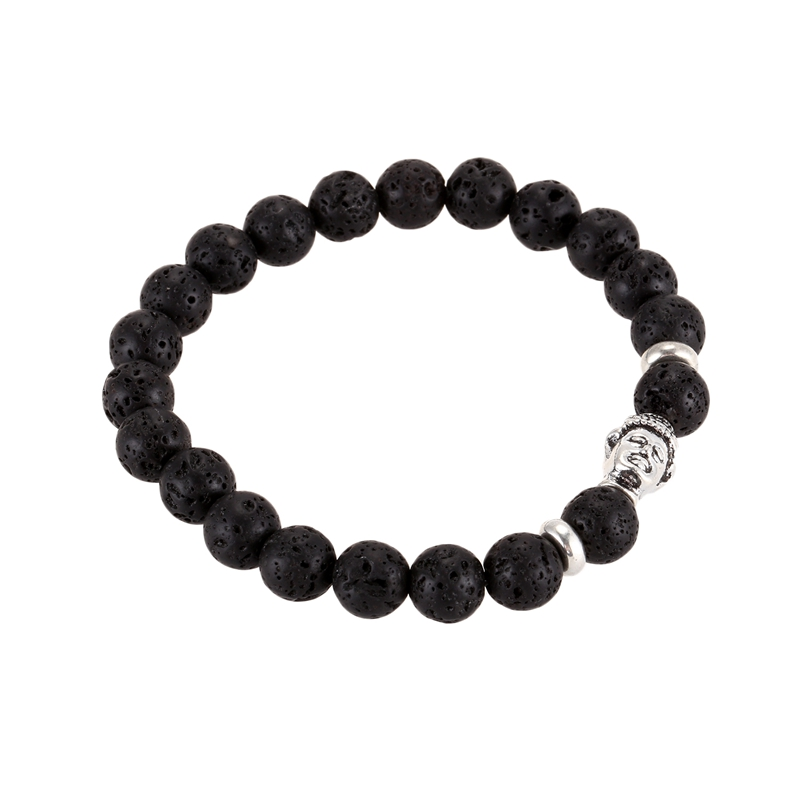 Armband 8mm Charme Armband Für Frauen Und Männer Buddha Buddhistisches Ge M1L5