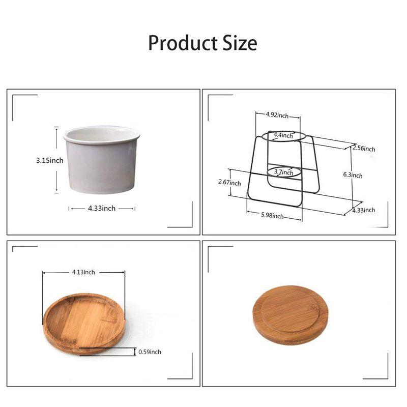 2X-Pflanzgefaesse-Toepfe-Drinnen-6-30-Zoll-Moderne-Pflanzen-Und-Keramik-Runde-G5K9 Indexbild 3