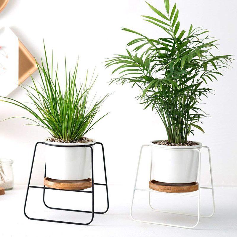 2X-Pflanzgefaesse-Toepfe-Drinnen-6-30-Zoll-Moderne-Pflanzen-Und-Keramik-Runde-G5K9 Indexbild 8