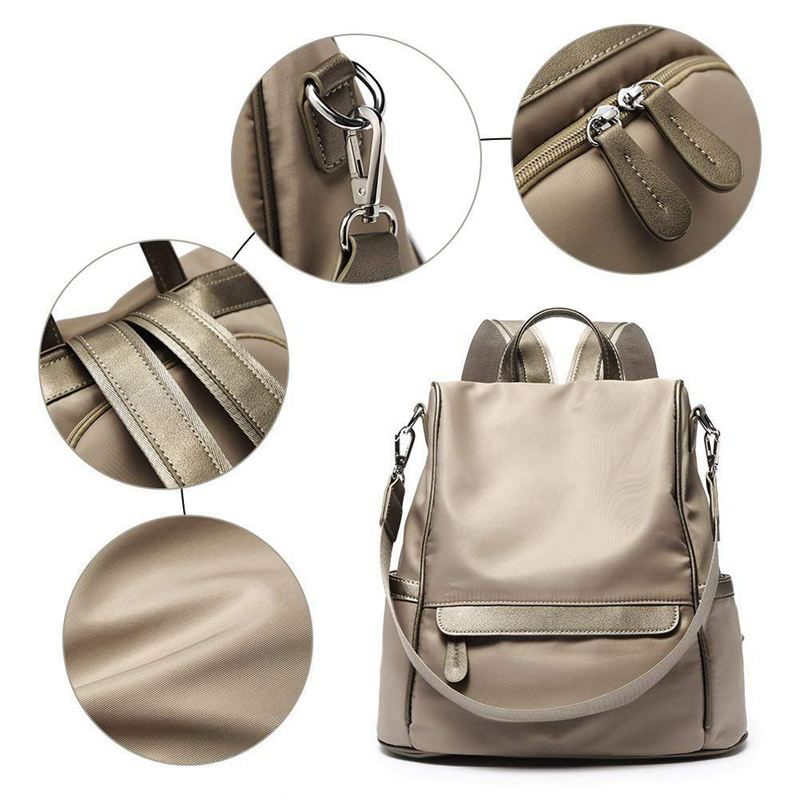 Sac-A-Dos-pour-Femme-Bourse-en-Nylon-Decontractee-Convertible-A-La-Mode-Sac-J5B4 miniature 4