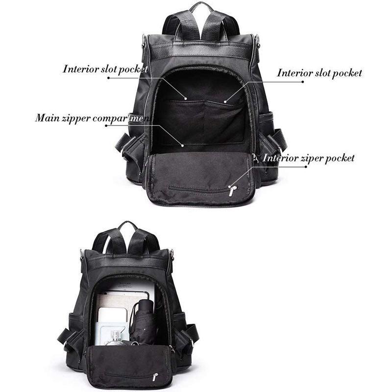 Sac-A-Dos-pour-Femme-Bourse-en-Nylon-Decontractee-Convertible-A-La-Mode-Sac-J5B4 miniature 11