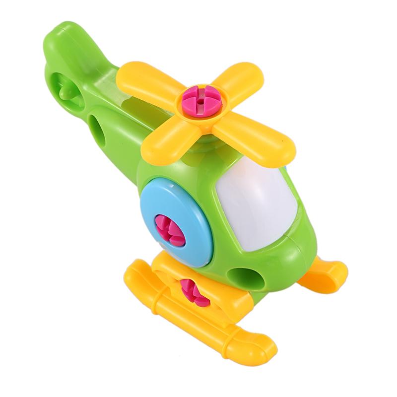 hubschrauber bausteine demontage versammlung spielzeug puzzle zug flugzeug